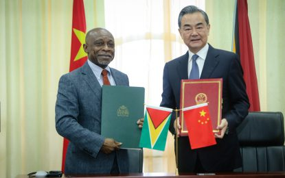 Guyana, China sign two agreements