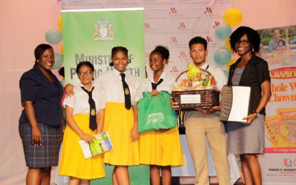 Brickdam Secondary wins National Food Nutrition and Health Quiz Competition