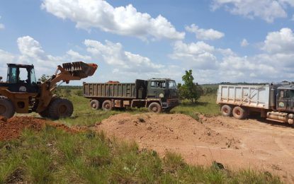 Ongoing road works to facilitate drilling of South Rupununi wells