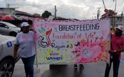 Rally, March-past wraps up Breastfeeding Week in Region Three
