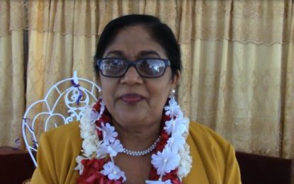Mrs. Nagamootoo commissions new recreational park for Auchlyne Primary