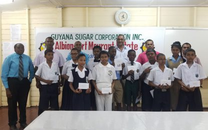 GuySuCo awards first set of bursaries to NGSA students