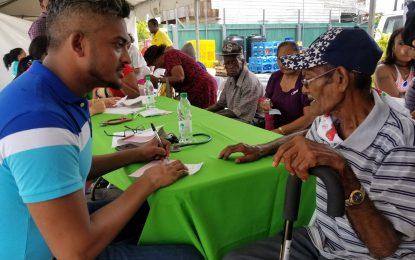 Scores visit Berbice Health Fair