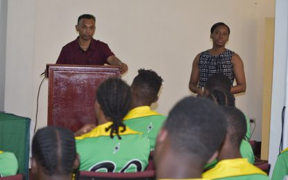 CANU CONDUCTS DRUG AWARENESS SESSION WITH NATIONAL U20 TEAM