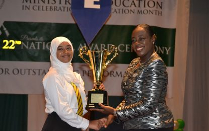 """I look at failure as a stepping stone""-Top awardee Aadilah Ali"