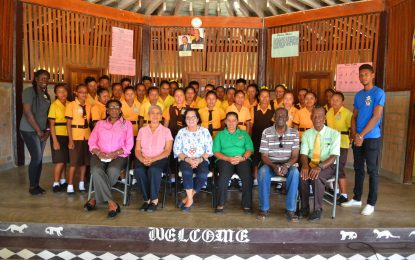 First Lady takes robotics and self-reliance workshops to North Rupununi