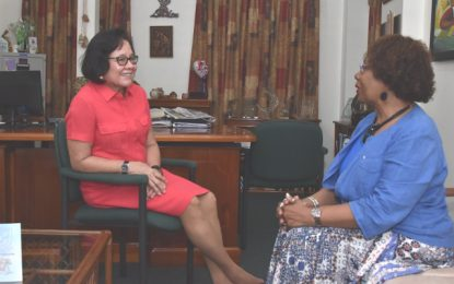 First Lady receives courtesy call from Honorary Consul of Guyana to the State of Georgia