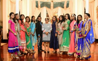 Miss India delegates pay courtesy call on Mrs. Nagamootoo