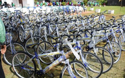 Over 50 bicycles, boat handed over to students of Mabaruma