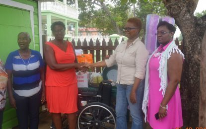 Social Protection Ministry donates to West Berbice fire victims