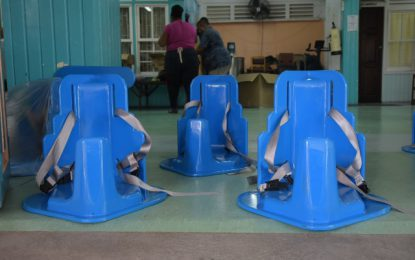 Tumble Form chairs for mothers of babies with microcephaly