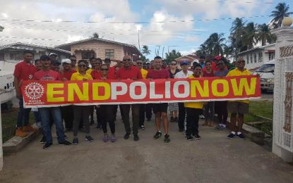 NA Rotary Club hosts polio awareness walk