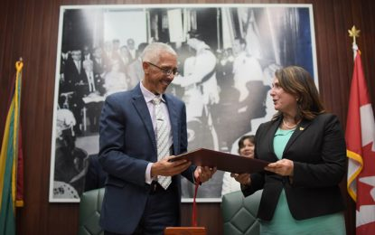 Guyana and Newfoundland sign MOU to enhance cooperation in Oil and Gas