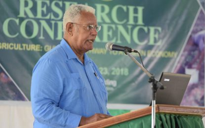 NAREI is a base for Guyana's agri-policy- Minister Holder