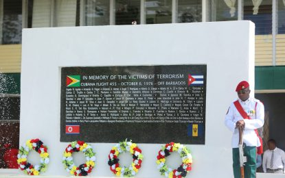 PM reiterates pledge against terrorism as Guyana remembers Cubana air tragedy