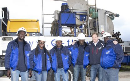GWI staff in Netherlands for well maintenance training