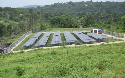 Mabaruma solar farm to be commissioned soon