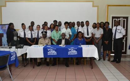 Immigration officers engaged in C-TIP training