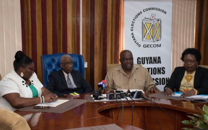 GECOM addressing electoral ties in constituencies