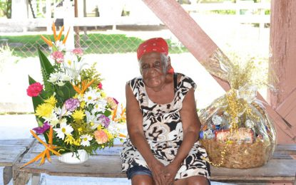 Mahaica resident Ruby Hunte is 96 not out!