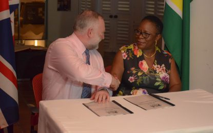 Guyana, UK sign agreement to share hydrographic information