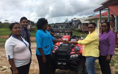 Baramita Health Post receives new ATV