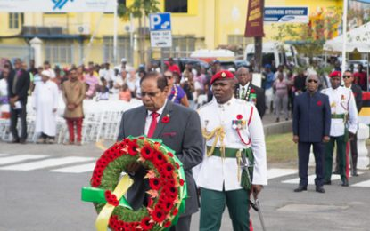 Remembrance Day 2018 observed