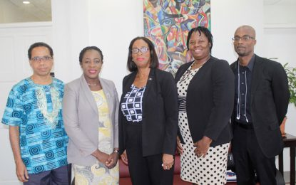 Barbados Foreign Affairs Minister and delegation pays a courtesy call on Minister of Education