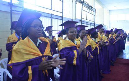 "NAMS CSEC, CAPE graduates urged to ""climb to higher heights"""