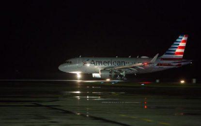 American Airlines makes inaugural flight to Guyana