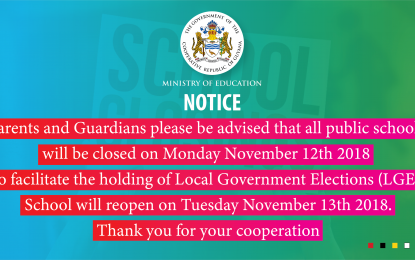 Ministry of Education; School Closure Notice