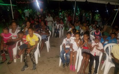 Parika Façade CDC fetes hundreds of children
