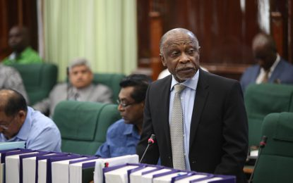 Statement by Honourable Carl B Greenidge, MP.Vice President and Minister of Foreign Affairs to the National Assembly