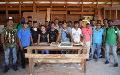 Woodwork training for Hinterland youths