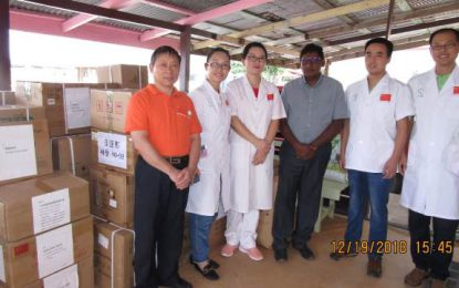 Chinese government donates medical supplies to Linden Hospital