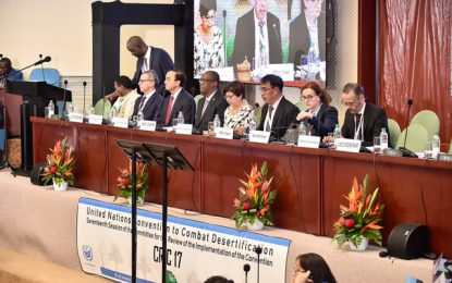 'Guyana aspires to be a success story in its implementation of the UNCCD'  – Minister Harmon at opening of CRIC 17