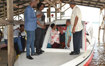 $11M Water Ambulance commissioned at Bartica