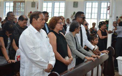 Former Govt Minister Vibert DeSouza laid to rest
