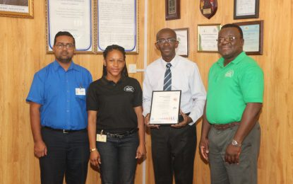 Guyana National Shipping Corporation Ltd compliant with and achieves new ISO 9001:2015 standards.
