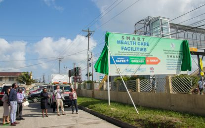 Unveiling of Smart Healthcare facilities project billboard