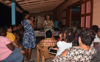 Minister Garrido-Lowe takes outreach to Kwakwani