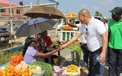 Minister Norton conducts walkabout in E'bo and Bartica