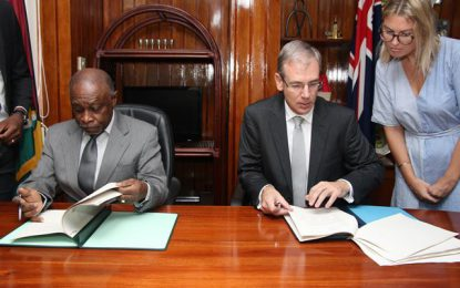 Guyana and New Zealand Sign Air Services Agreement