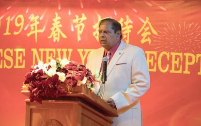 Prime Minister Nagamootoo joins celebration for Chinese New Year