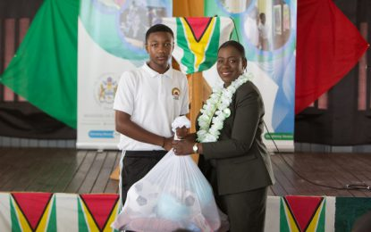 Canje Secondary School gets new Home Economics and PE equipment