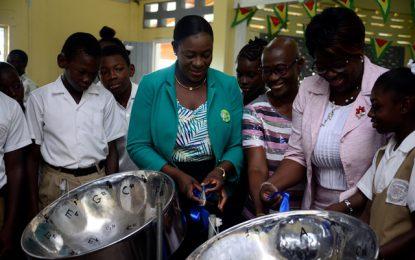 16 steel pans for Belladrum Secondary School