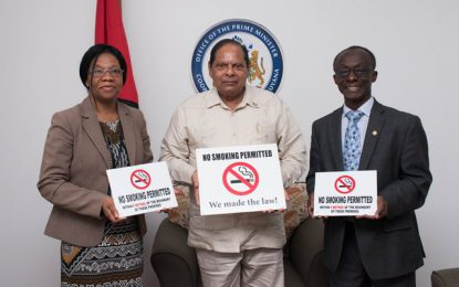 PM Received NO SMOKING signs