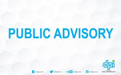 PUBLIC ADVISORY (HIGH TIDES ALERT)