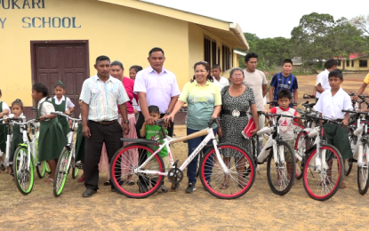 Bicycle and sport equipment for Yupukari youth