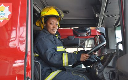 Braving the heat and breaking barriers – firefighter Melesia Martin
